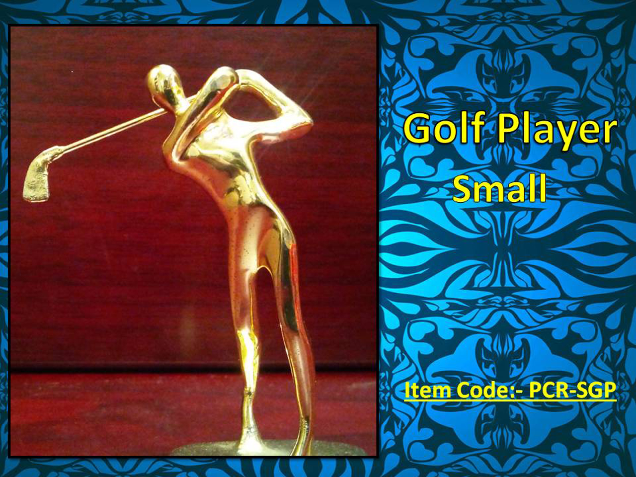 Golf Player Small Golden Colour