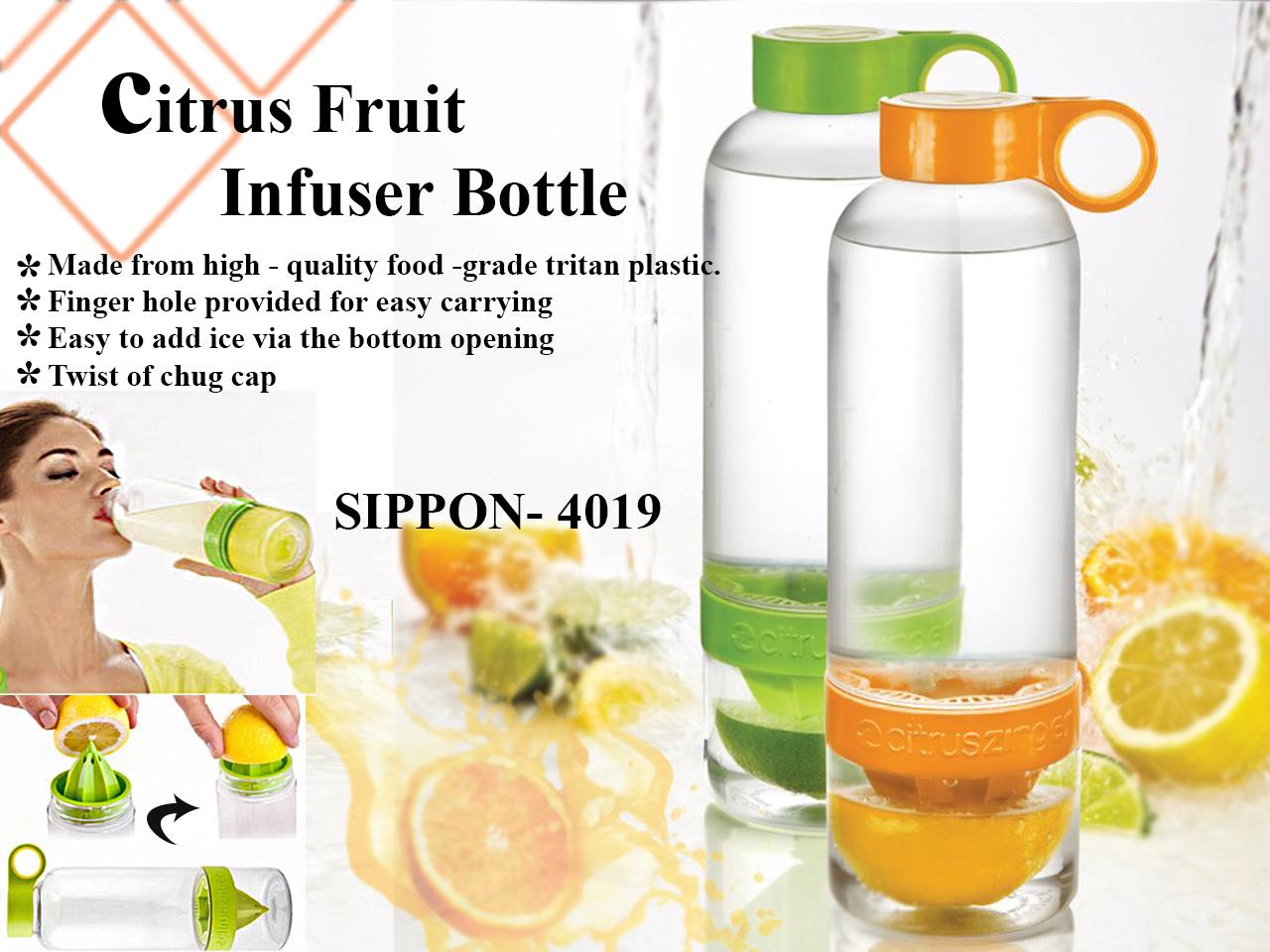 Transparent Bottle Green and Orange