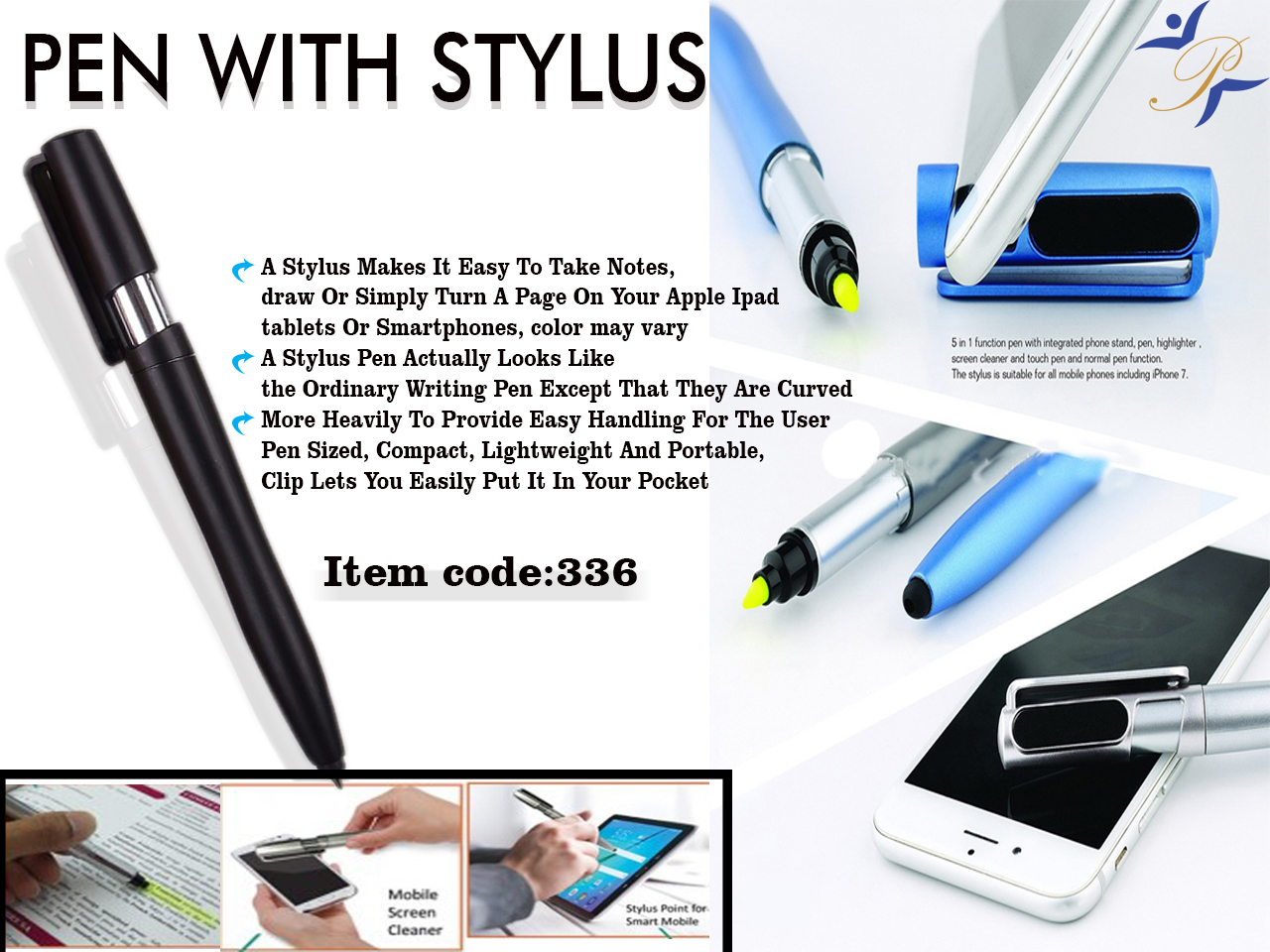 stylus pen with higlighter