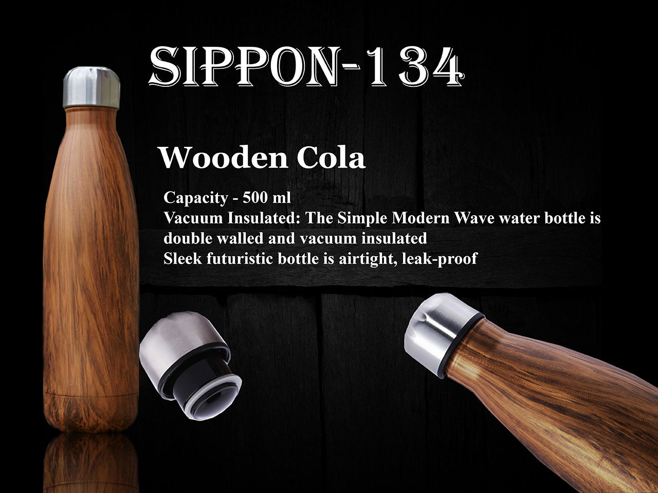 Wooden Colour Water Bottle