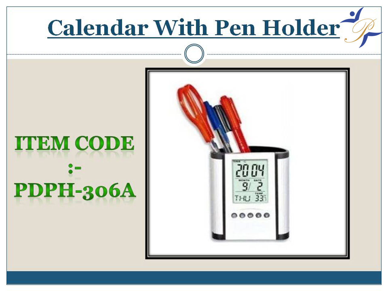 Calendar with Pen Stand