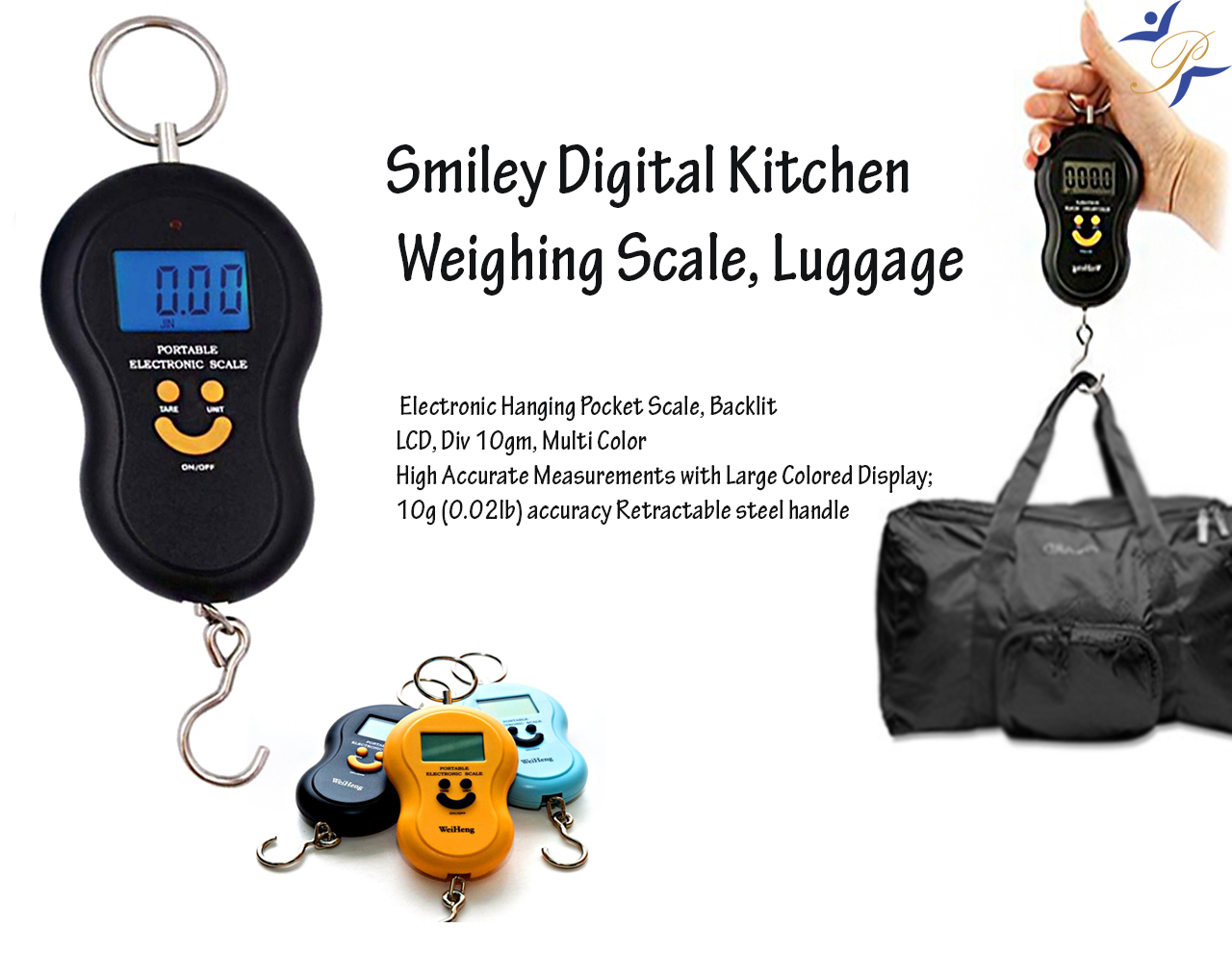smiley luggage scale